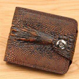 Fashion Wallet/Purse for Men; Dark Brown