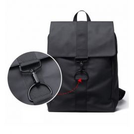 Fashion Shoulder Backpack for Men; Black