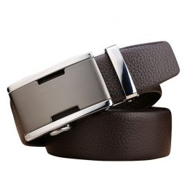 Leather Belt for Men; Black