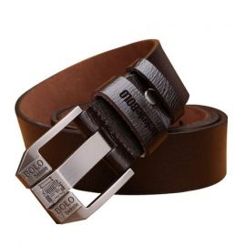 Leather Belt for Men; Brown
