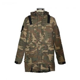 Men's Soft Shell All Weather Jacket w/ Hoodie; Camouflage