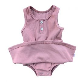 Baby Girls Dress Romper; Rose