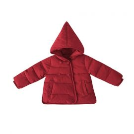 Girls Down Jacket w/ Hoodie; Red