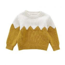 Boys Knitted Sweater; Ocher
