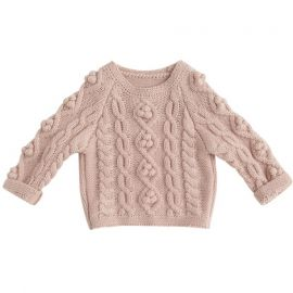 Girls Knitted Sweater; Pink