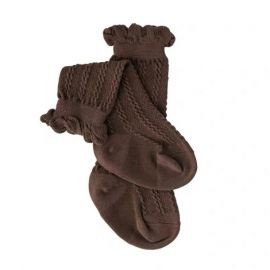 Girls Knit Socks; Brown