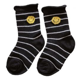 Boys Woven Cartoon Socks; Black