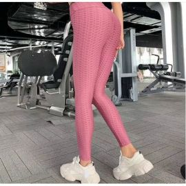 Pink Breathable Sports Leggings