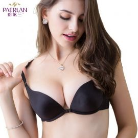 Women's Front Closure Bra; Black