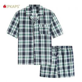 Men's Woven Pyjama Set; Multi