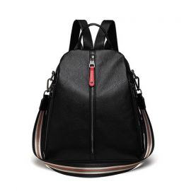 Fashion Shoulder Backpack for Women; Black