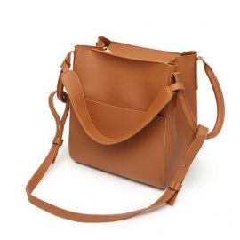 Top Handle Handbag for Women; Brown