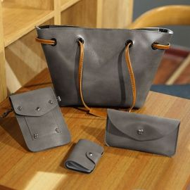 Top Handle Handbag for Women; Gray