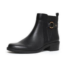 Women's Round Toe Ankle Booties; Black