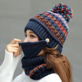 Blue Knitwear for hard winter