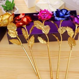 Gold Foil Plated Decorative Rose