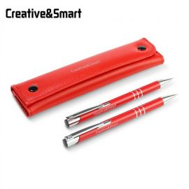 Red pen with pencil set
