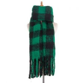 Womens Irish Plaid Winter Shawl