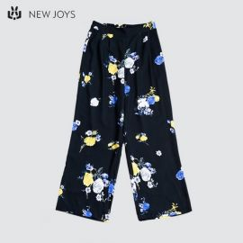 Ladies Casual Wide Floral Pant