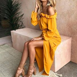 Womens Off Shoulder Dress